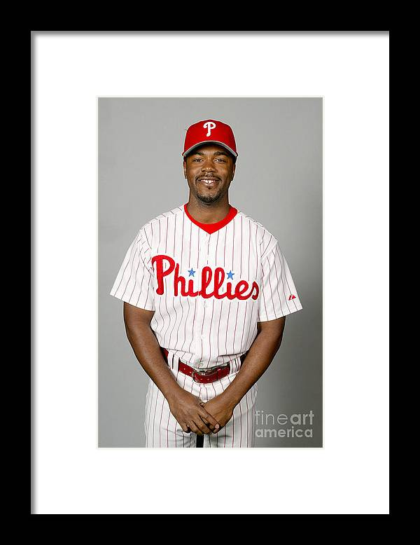Clearwater Framed Print featuring the photograph Jimmy Rollins by Major League Baseball Photos