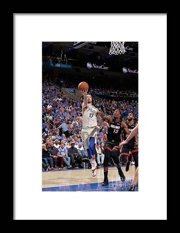 Playoffs Framed Print featuring the photograph J.j. Redick by David Dow