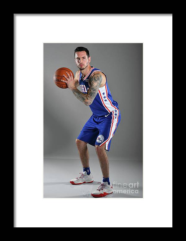 Media Day Framed Print featuring the photograph J.j. Redick by Jesse D. Garrabrant