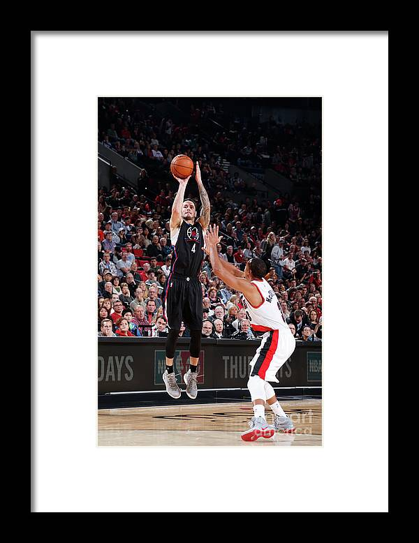 Nba Pro Basketball Framed Print featuring the photograph J.j. Redick by Sam Forencich