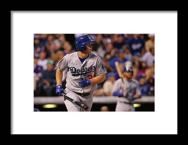 American League Baseball Framed Print featuring the photograph Joc Pederson by Doug Pensinger