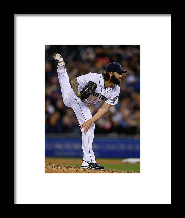 American League Baseball Framed Print featuring the photograph Joe Beimel by Otto Greule Jr