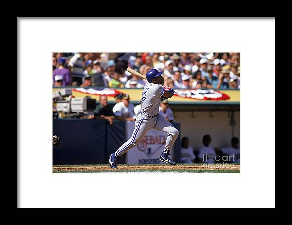 American League Baseball Framed Print featuring the photograph Joe Carter by Otto Greule Jr