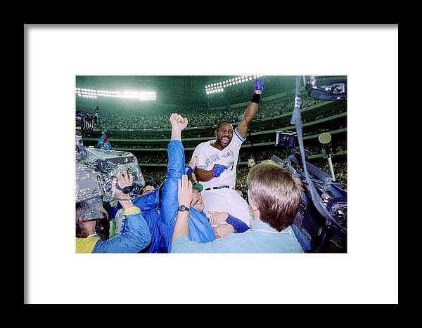 Toronto Framed Print featuring the photograph Joe Carter by Rick Stewart