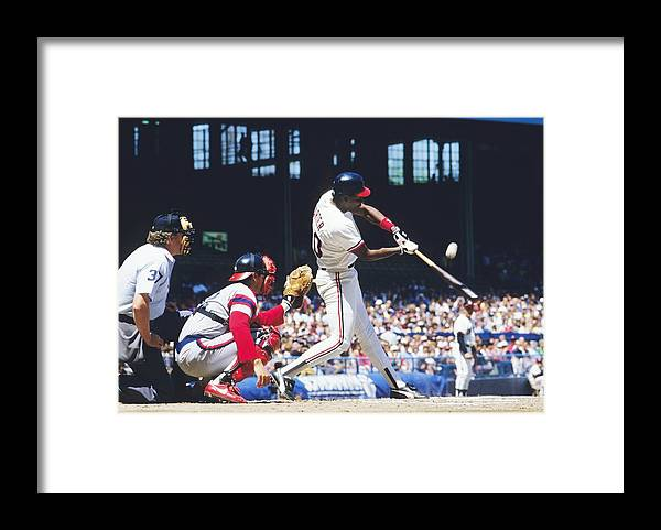 1980-1989 Framed Print featuring the photograph Joe Carter by Ronald C. Modra/sports Imagery