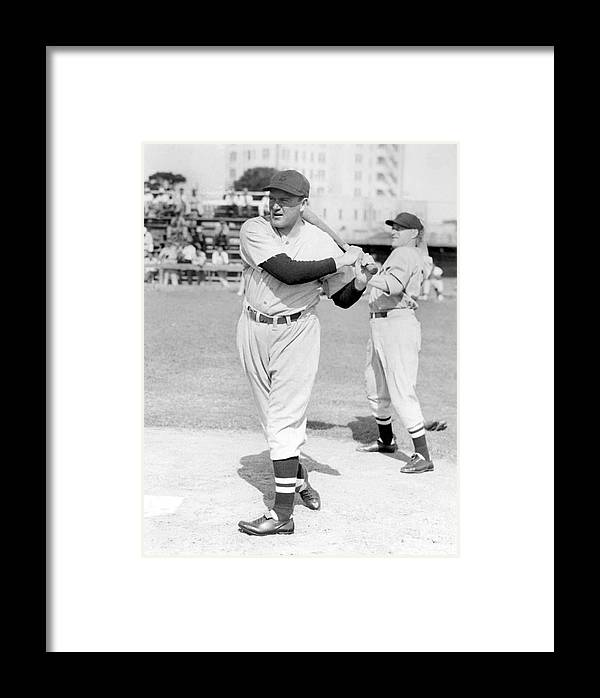 1930-1939 Framed Print featuring the photograph Joe Cronin by National Baseball Hall Of Fame Library