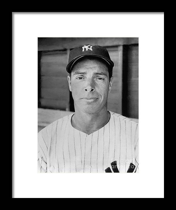 American League Baseball Framed Print featuring the photograph Joe Dimaggio by National Baseball Hall Of Fame Library