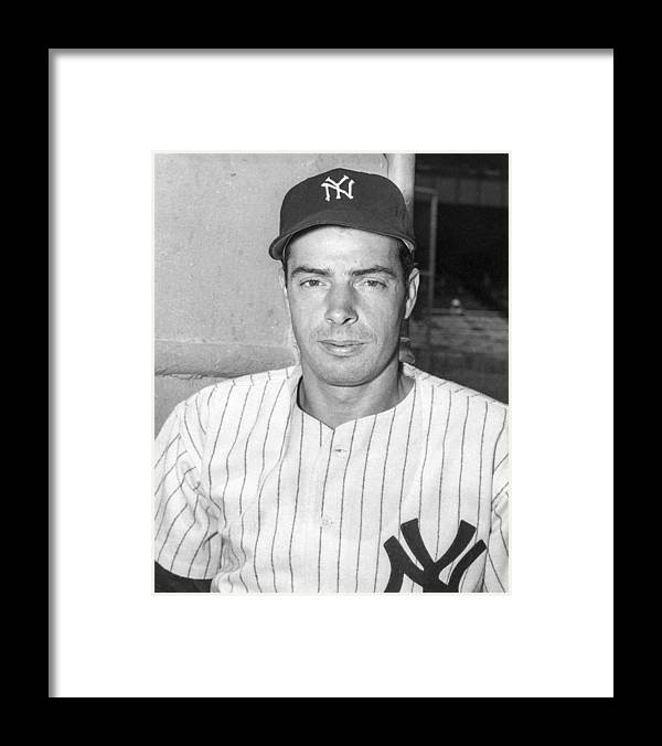 People Framed Print featuring the photograph Joe Dimaggio by The Stanley Weston Archive