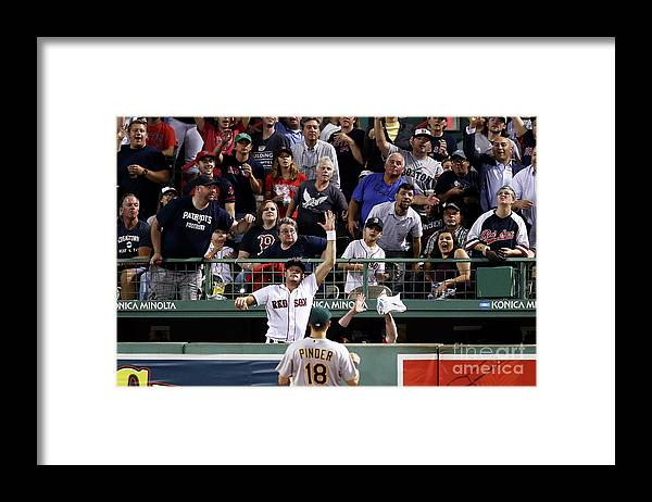 People Framed Print featuring the photograph Joe Kelly and Jackie Bradley by Maddie Meyer