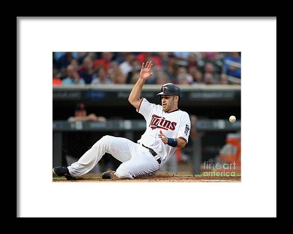 Second Inning Framed Print featuring the photograph Joe Mauer and James Mccann by Hannah Foslien