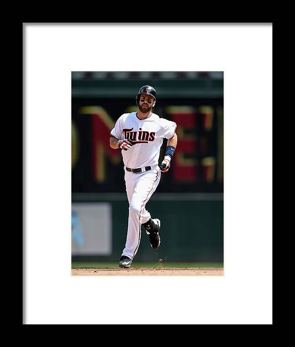 Joe Mauer Framed Print featuring the photograph Joe Mauer by Hannah Foslien