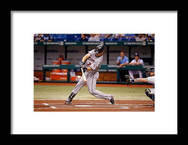 Baseball Catcher Framed Print featuring the photograph Joe Mauer by J. Meric
