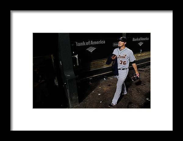 American League Baseball Framed Print featuring the photograph Joe Nathan by Patrick Mcdermott