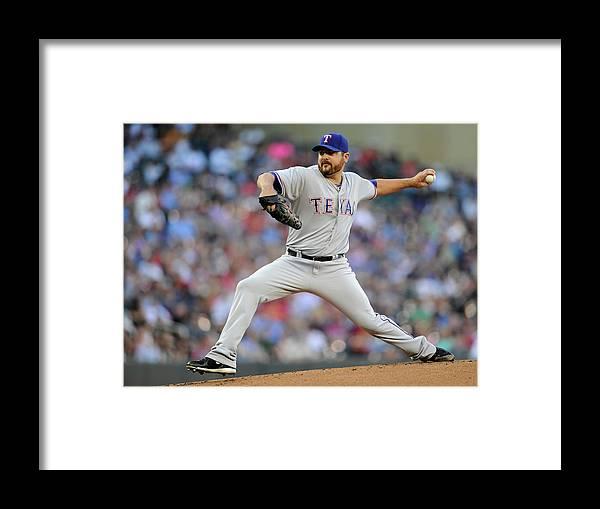 American League Baseball Framed Print featuring the photograph Joe Saunders by Hannah Foslien