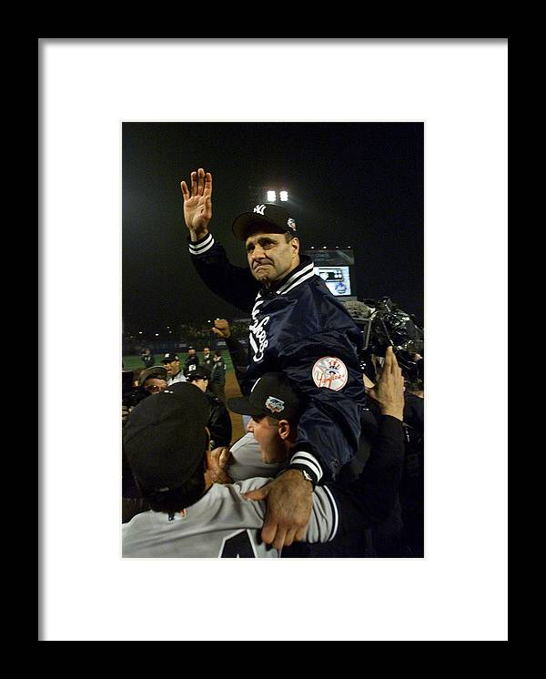 Celebration Framed Print featuring the photograph Joe Torre by Jed Jacobsohn