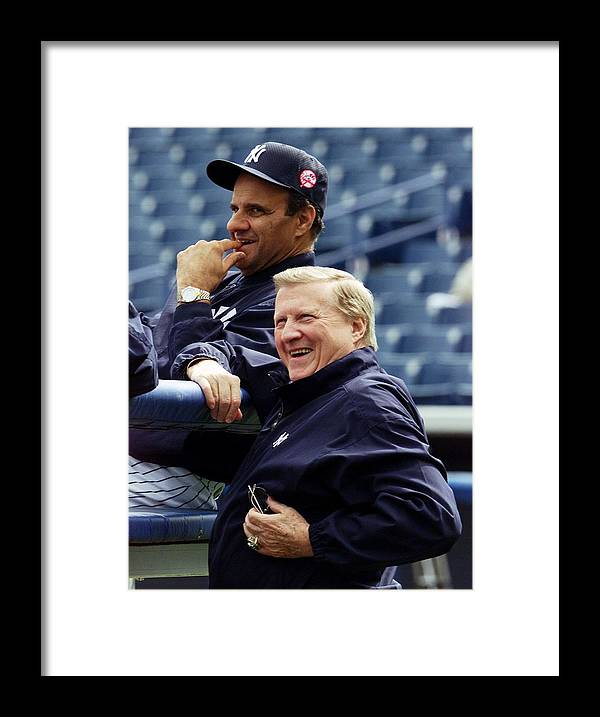 Baseball Catcher Framed Print featuring the photograph Joe Torre by New York Daily News Archive