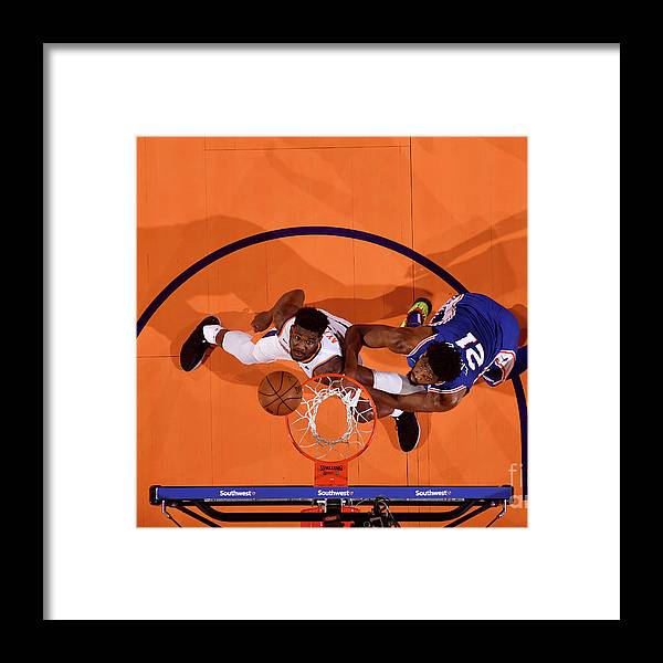 Nba Pro Basketball Framed Print featuring the photograph Joel Embiid by Barry Gossage