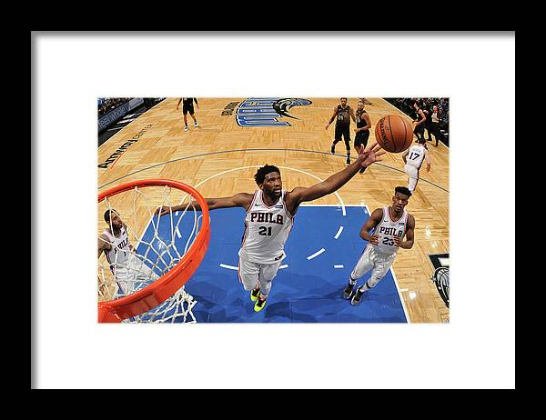 Nba Pro Basketball Framed Print featuring the photograph Joel Embiid by Fernando Medina