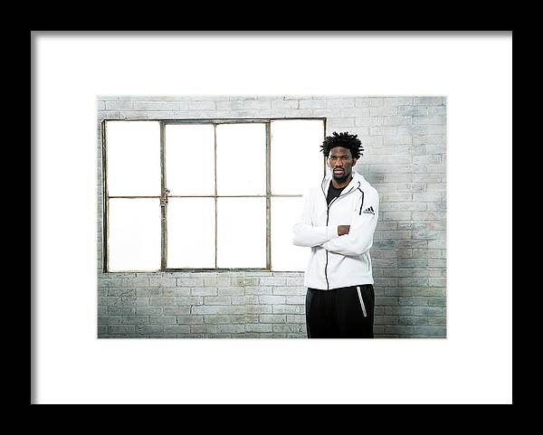 Nba Pro Basketball Framed Print featuring the photograph Joel Embiid by Nathaniel S. Butler