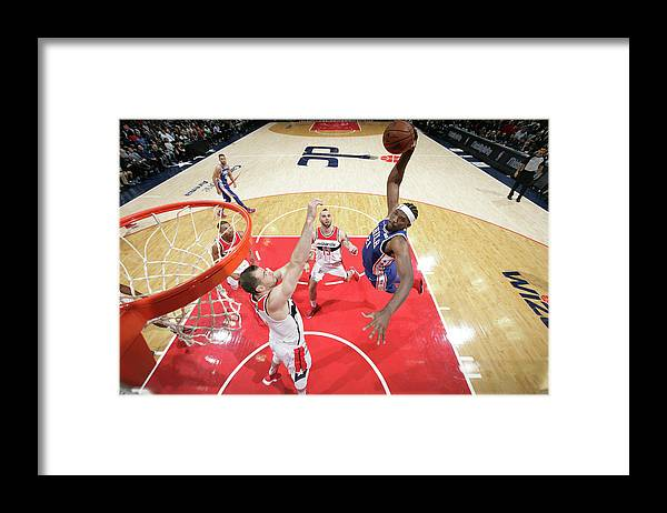 Nba Pro Basketball Framed Print featuring the photograph Joel Embiid by Ned Dishman