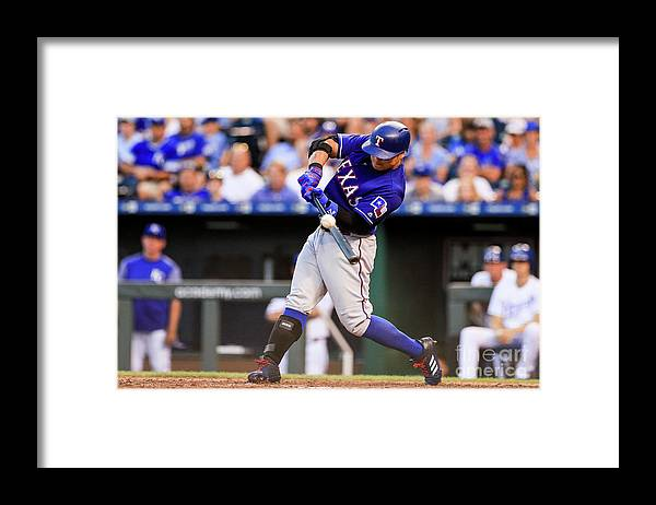 Ninth Inning Framed Print featuring the photograph Joey Gallo and Shin-soo Choo by Brian Davidson