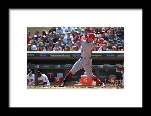 People Framed Print featuring the photograph Joey Votto by Adam Bettcher