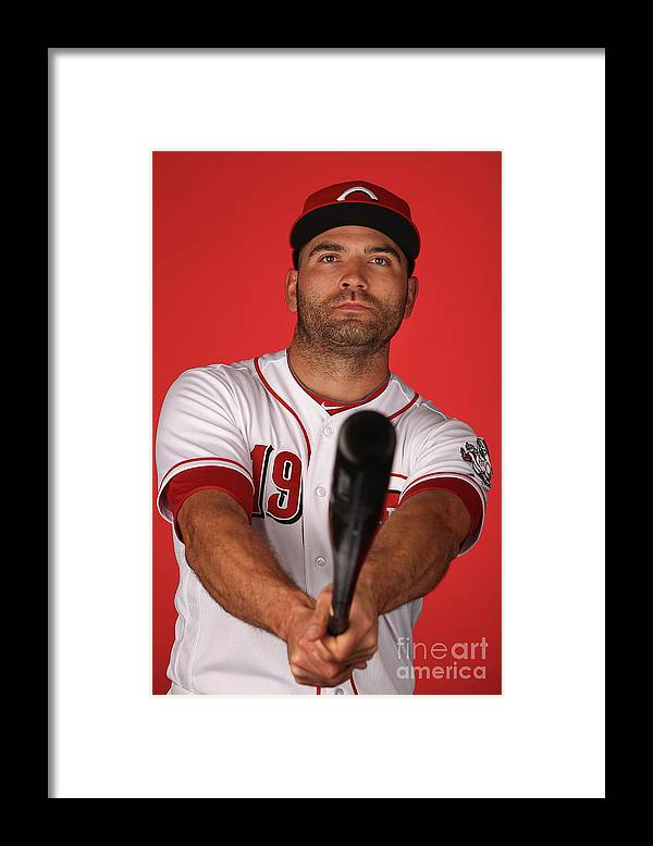 Media Day Framed Print featuring the photograph Joey Votto by Christian Petersen
