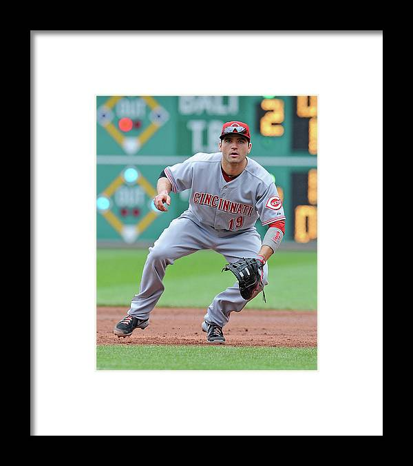 Pnc Park Framed Print featuring the photograph Joey Votto by Joe Sargent