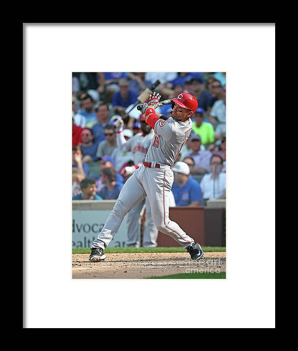 People Framed Print featuring the photograph Joey Votto by Jonathan Daniel