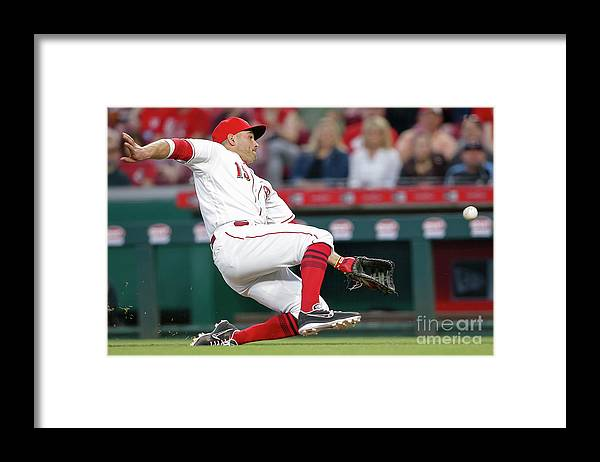 Great American Ball Park Framed Print featuring the photograph Joey Votto by Michael Hickey