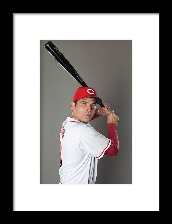 American League Baseball Framed Print featuring the photograph Joey Votto by Mike Mcginnis