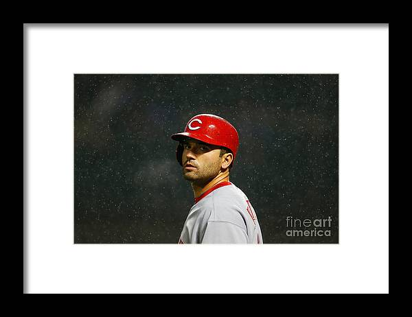 American League Baseball Framed Print featuring the photograph Joey Votto by Mike Stobe