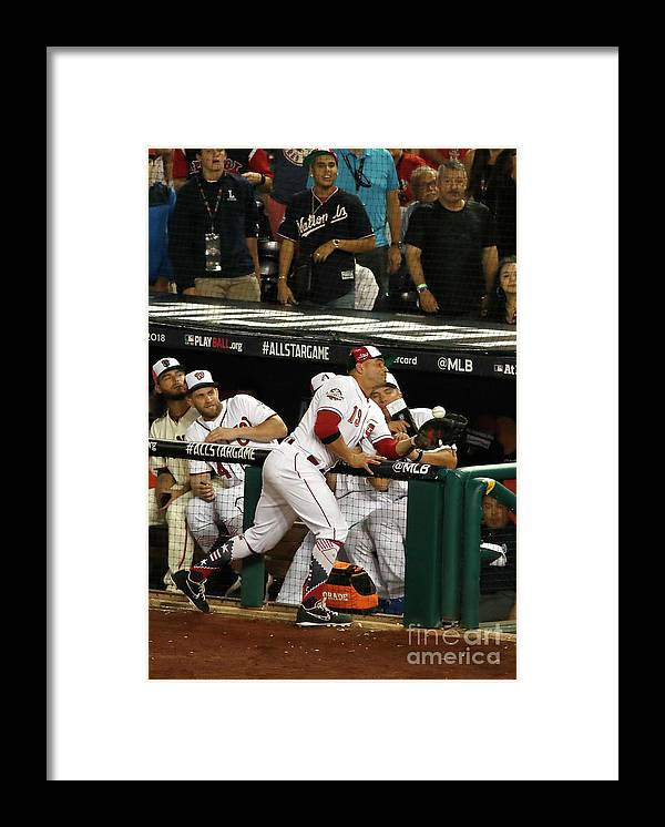 People Framed Print featuring the photograph Joey Votto by Patrick Mcdermott