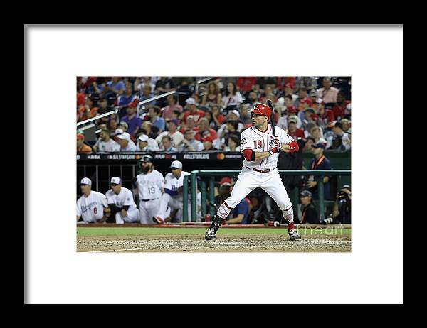 People Framed Print featuring the photograph Joey Votto by Rob Carr