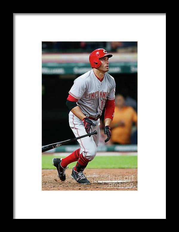 Ninth Inning Framed Print featuring the photograph Joey Votto by Ron Schwane