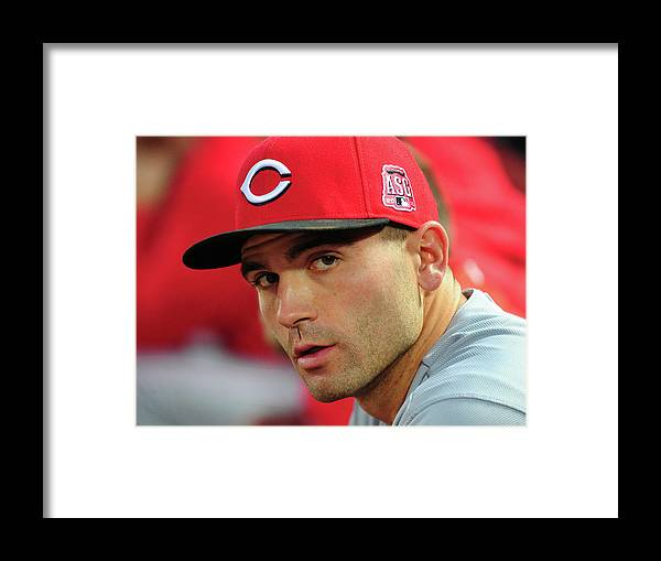 Atlanta Framed Print featuring the photograph Joey Votto by Scott Cunningham