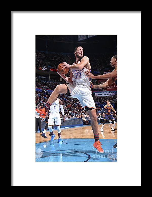 Nba Pro Basketball Framed Print featuring the photograph Joffrey Lauvergne by Andrew D. Bernstein