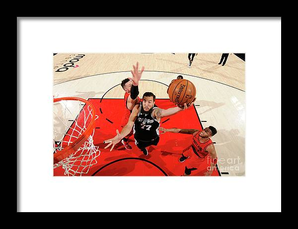 Nba Pro Basketball Framed Print featuring the photograph Joffrey Lauvergne by Cameron Browne