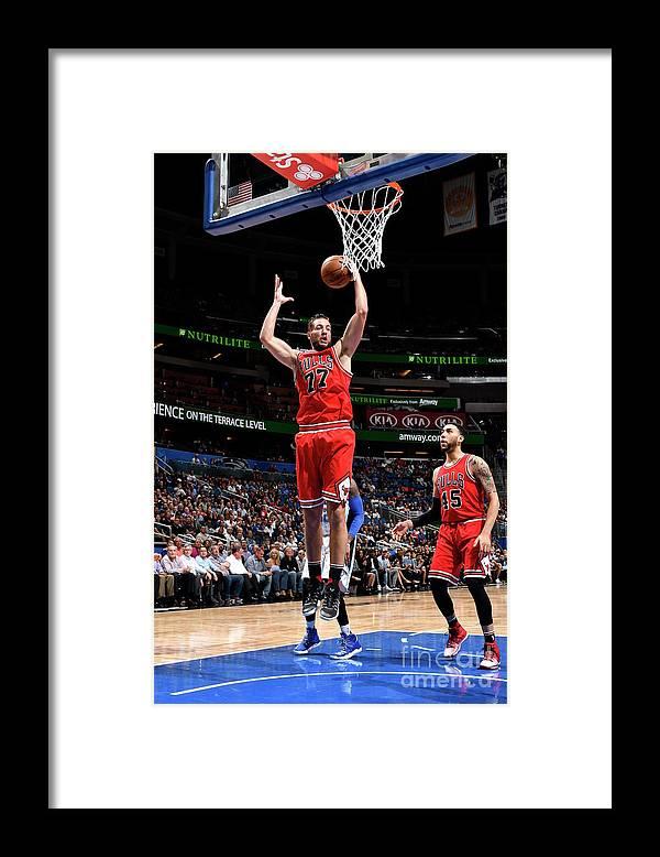 Nba Pro Basketball Framed Print featuring the photograph Joffrey Lauvergne by Fernando Medina