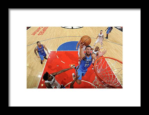 Nba Pro Basketball Framed Print featuring the photograph Joffrey Lauvergne by Juan Ocampo