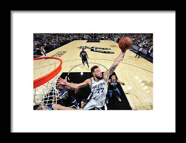 Nba Pro Basketball Framed Print featuring the photograph Joffrey Lauvergne by Mark Sobhani
