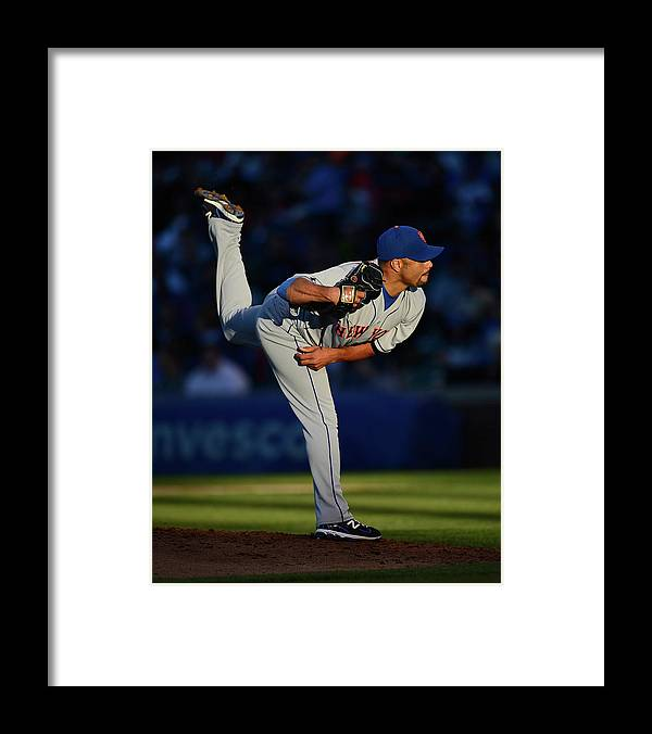 Ball Framed Print featuring the photograph Johan Santana by Jonathan Daniel