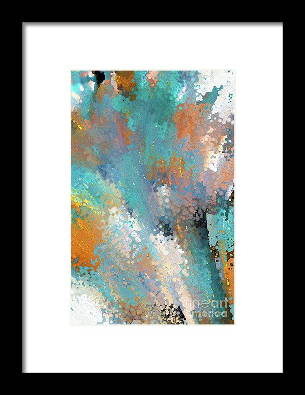 Blue Framed Print featuring the mixed media John 8 32. Set Free by Mark Lawrence