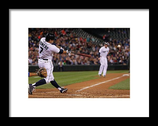 American League Baseball Framed Print featuring the photograph John Buck by Otto Greule Jr
