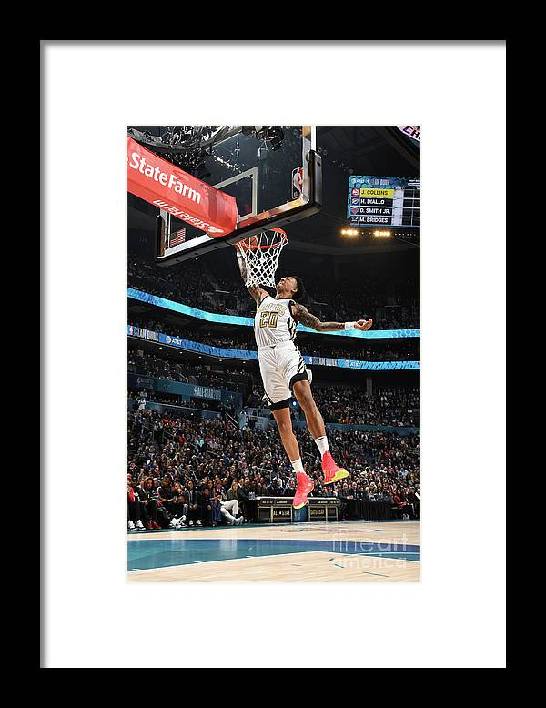 Nba Pro Basketball Framed Print featuring the photograph John Collins by Andrew D. Bernstein