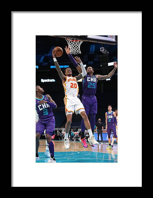 Nba Pro Basketball Framed Print featuring the photograph John Collins by Brock Williams-Smith