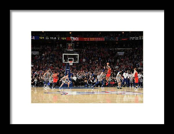Nba Pro Basketball Framed Print featuring the photograph John Collins by David Dow