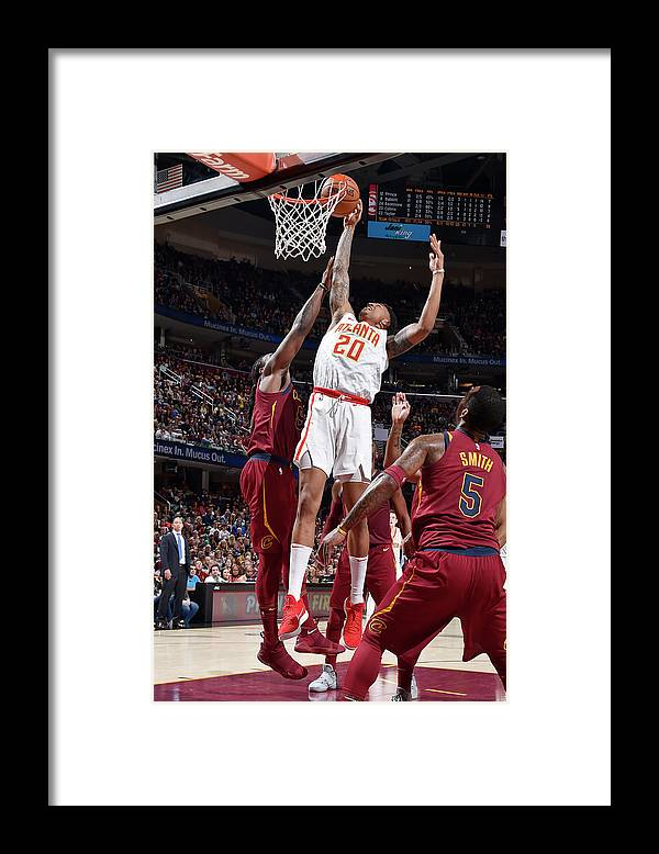 Nba Pro Basketball Framed Print featuring the photograph John Collins by David Liam Kyle
