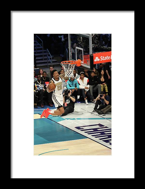 Nba Pro Basketball Framed Print featuring the photograph John Collins by Kent Smith