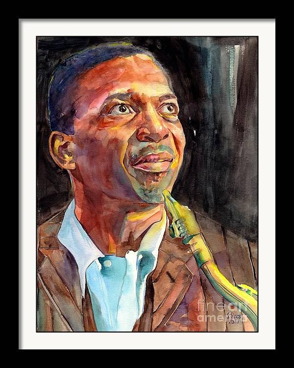 John Coltrane Portrait by Suzann Sines